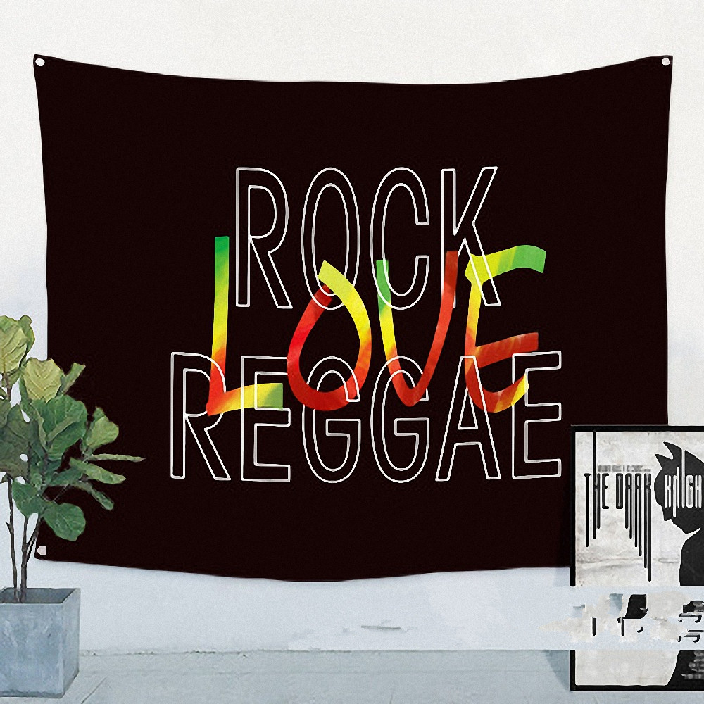 Bob Marley Jamaican Reggae Rock Music Flag Banner Cloth Art Retro Poster Tapestry Wall Sticker Hanging Painting Home Decoration image