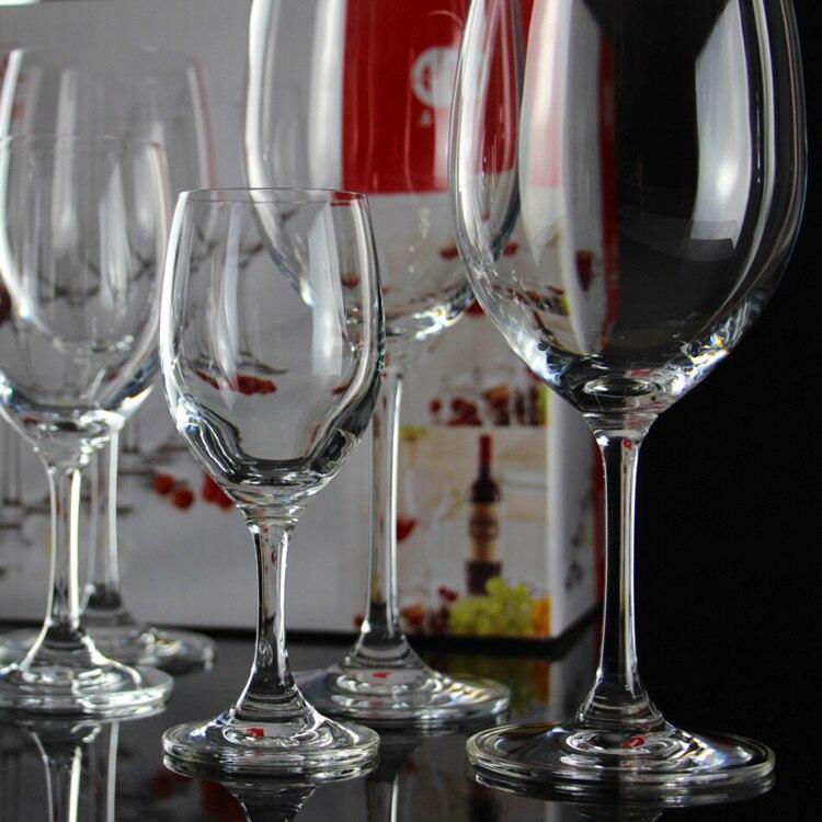 6 pièces haut pied Bordeaux vin rouge tasse, sans plomb cristal verre à vin, 540 ML en gros