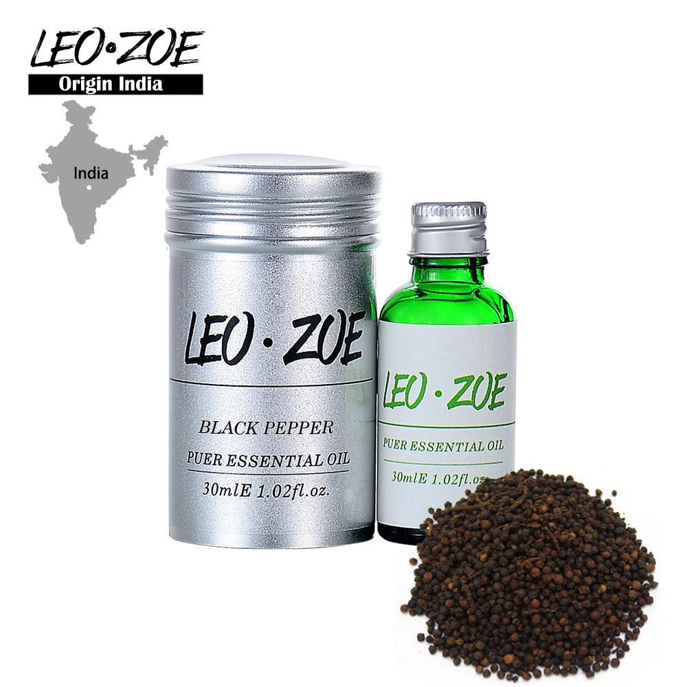 цена на Well-Known Brand LEOZOE Black Pepper Essential Oil Certificate Origin India High Quality Aromatherapy Black Pepper Oil 30ML