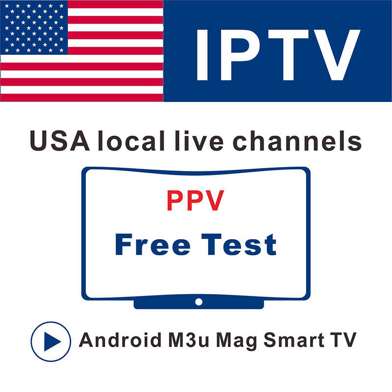 USA IPTV Subscription PPV channels Free Test on Mag box