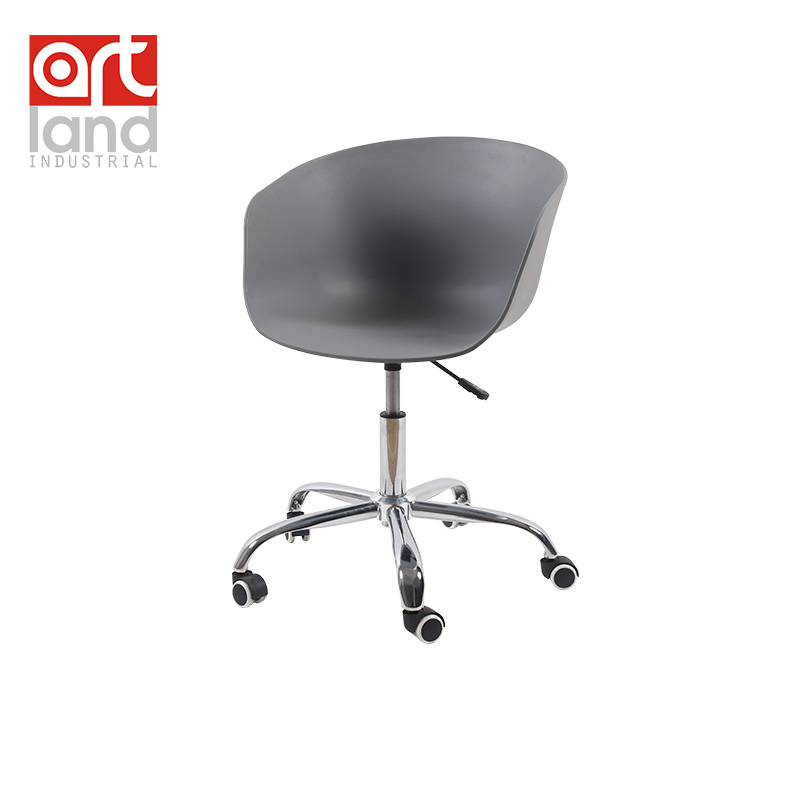 Office Chair Plastic Shell With Chrome 5 Star Swivel Gas Spring Free Shipping By Ems In Chairs From Furniture On Aliexpress