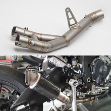 Motorcycle exhaust  YZF R1 Exhaust Mid Pipe Link stainless steel Motorbike Connect Middle YZF-R1 2015-2017