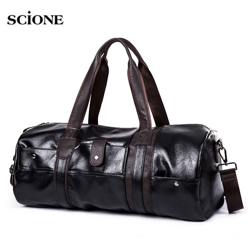 Soft PU Leather Gym Bag Sports Bags Handbags For Fitness Men Women Training Shoulder Traveling Sac De Sport Gymtas Tas XA538WA