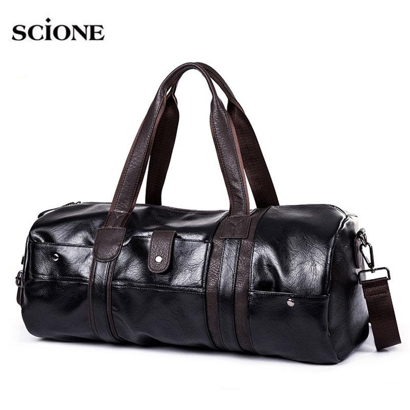 Soft PU Leather Gym Bag Sports Bags Handbags For Fitness Men Women Training Shoulder Traveling Sac De Sport Gymtas Tas XA538WA