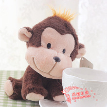 5 pieces a lot cute plush monkey toys lovely small monkey dolls gift about 15cm 396