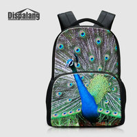 Dispalang 3D Printing Peacock Backpack For Laptop Animal Owl Schoolbags Bookbags For Elementary Students Bagpack Mochila
