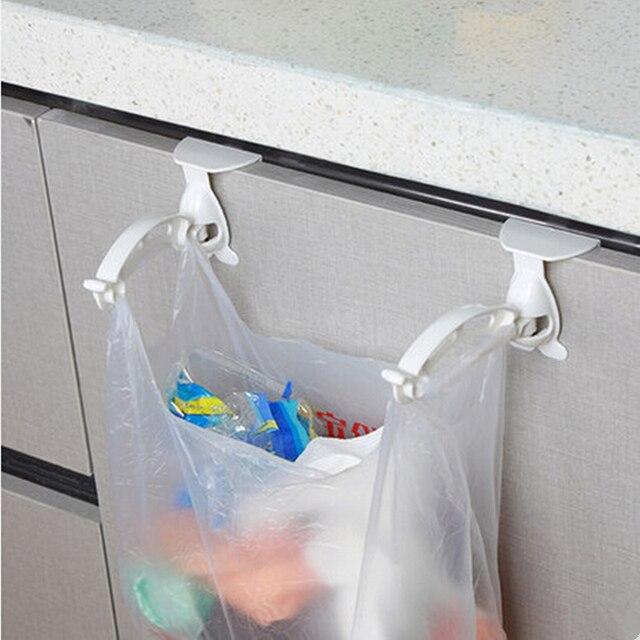 new kitchen cabinet bags hooks trash pp plastic hanger cupboard door hanging rack