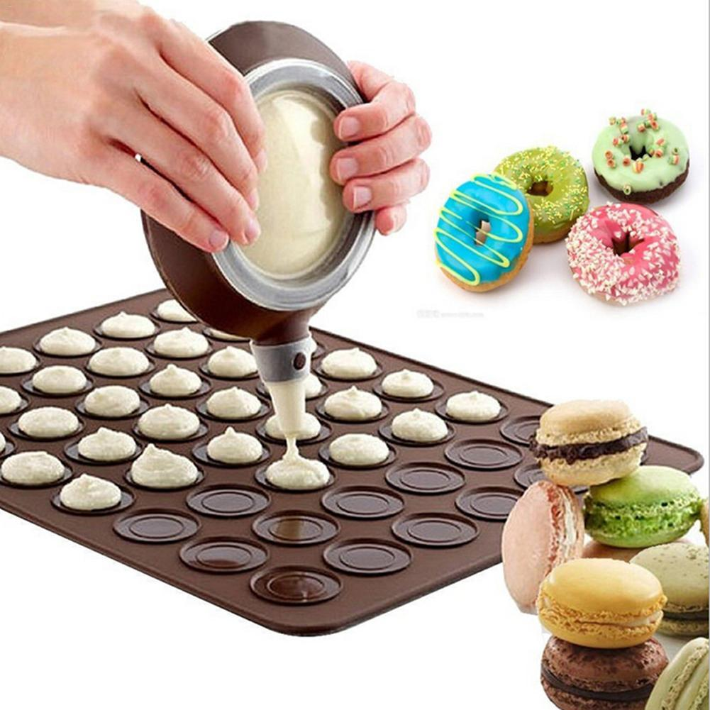 Silicone Macaron Macaroon Mold Set Baking Tools Pad Dessert Nozzles Pot Baking Mat Cake Mold Kitchen Baking Accessories