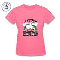 2017 Hot sprzedaż Kolorowe Mody Przypadkowi Jednorożec Rainbows funny t shirt z krótkim rękawem