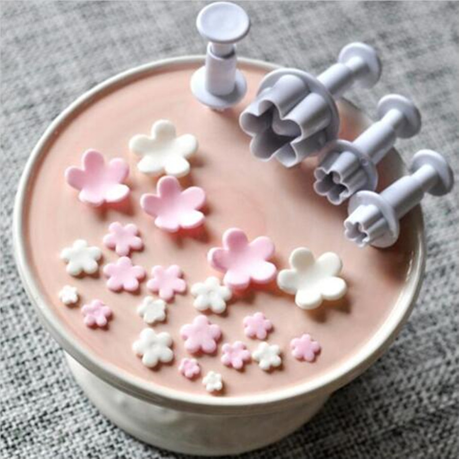 Faithful 3pcs Plastic Bow Knot Plunger Cake Cookies Cutter Mould Fondant Icing Hot Baking Accs. & Cake Decorating Other Baking Accessories