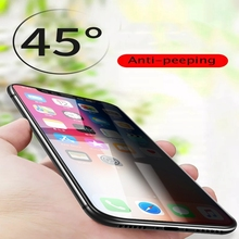 Full Cover Anti-Peeping Tempered Glass Film for iPhone Xs Max XR for iPhone XS 7 8 6 plus anti Privacy tempered Screen Protector