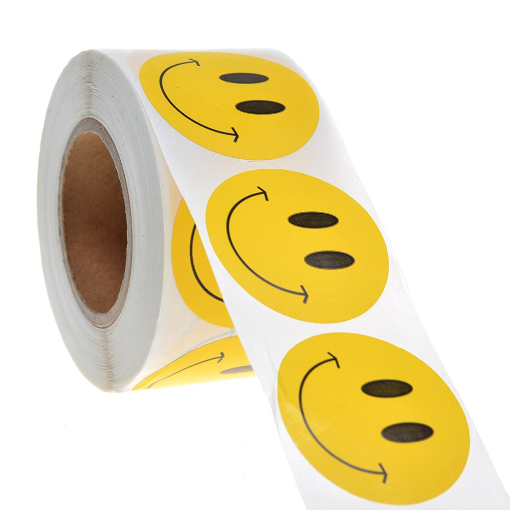 Online Yellow Smiley Face Sticker China