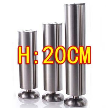 2pcs Stainless steel cabinet coffee KTV table furniture foot legs-- Diameter:50mm H:200MM