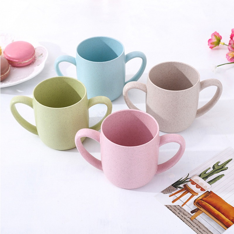 250ml Baby Cups Drinking Water Brush Teeth Washing Cup Children Infant Baby Milk Cup With Handle Breakfast Mug Drink 2019