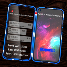Full Protective Magnetic Case For Huawei Honor V20 double-sided Clear Tempered Glass Cover for View 20
