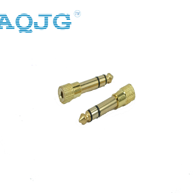 1pcs Gold plated 6.35mm 1/4Male plug to 3.5mm 1/8Female Jack Stereo Headphone Audio Adapter ,TRS 6.35 to 3.5 converter 5pcs 3 5mm 1 8 stereo trs male audio jack plug adapter connector silver g205m best quality