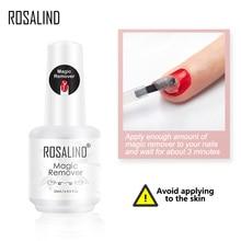 Rosalin Nail Gel Polish Magic Remover Voor Manicure Snelle Schoon Binnen 2 3 Minuten Uv Gel Nagellak Verwijderen base Top Coat