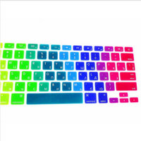 Rainbow RUSSIAN Silicone US Keyboard Cover Skin Sticker Protective FILM For Apple MacBook Pro Air 13