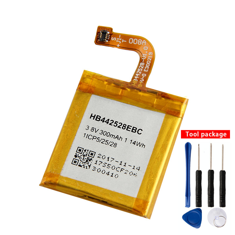 Original Replacement HB442528EBC Battery For Huawei Watch1 Rechargeable 300mAh