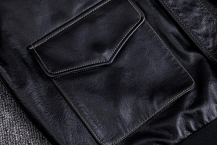 HTB1ncvTXojrK1RkHFNRq6ySvpXaj MAPLESTEED Men Leather Jacket Military Pilot Jackets Air Force Flight A2 Jacket Black Brown 100% Calf Skin Coat Autumn 4XL M154