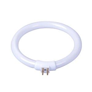 T4 кольцевые трубки 11 Вт 220 В Лупа светильник G10q маленькая настольная лампа флуоресцентная кольцевая лампа белый светильник круглая светоди...