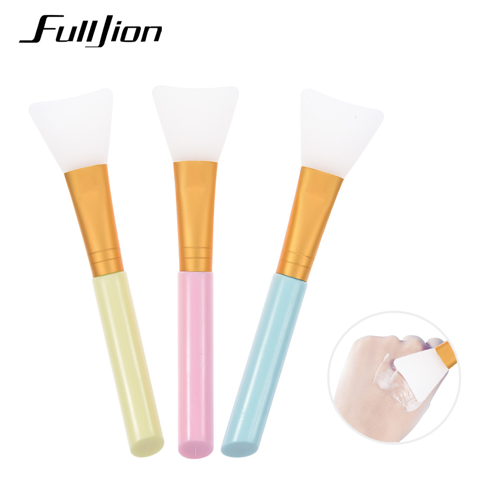 Fulljion 1PCS Pro Silicone Face Mask Brush Mud Mixing Facial Skin Care Beauty Makeup Brushes Foundation Concealer Cosmetic Tools