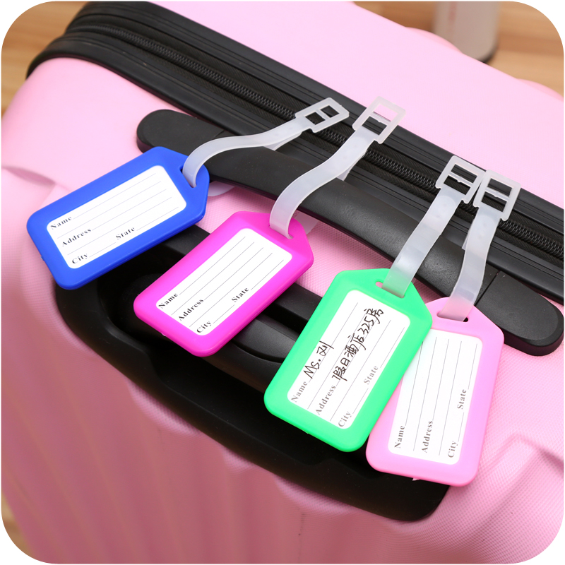 OKOKC Candy Colors Portable Luggage Tags Suitcase Travel Luggage Lable Straps Travel Accessories