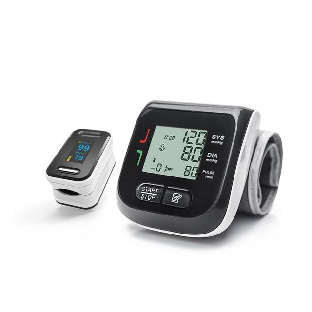 BOXYM Fingertip Pulse Oximeter & Wrist Blood Pressure Monitor SpO2 PR Sphygmomanometer Family Health Care 2