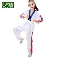 Children Taekwondo Sportswear Kids Karate Uniform Baby Girl Judo Takwondo Suits Toddler Boy Fitness Martial Arts Wtf Clothes Set