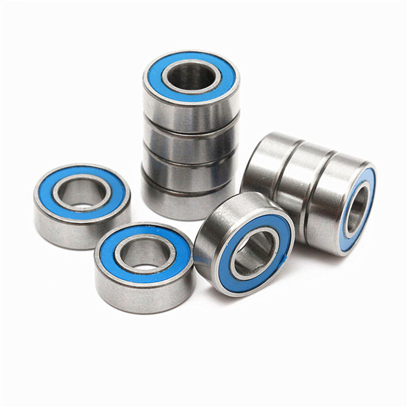 High Quality 10PCS ABEC-5 MR106-2RS MR106 2RS MR106 RS MR106RS 6x10x3 Mm Blue Rubber Sealed Miniature Deep Groove Ball Bearing