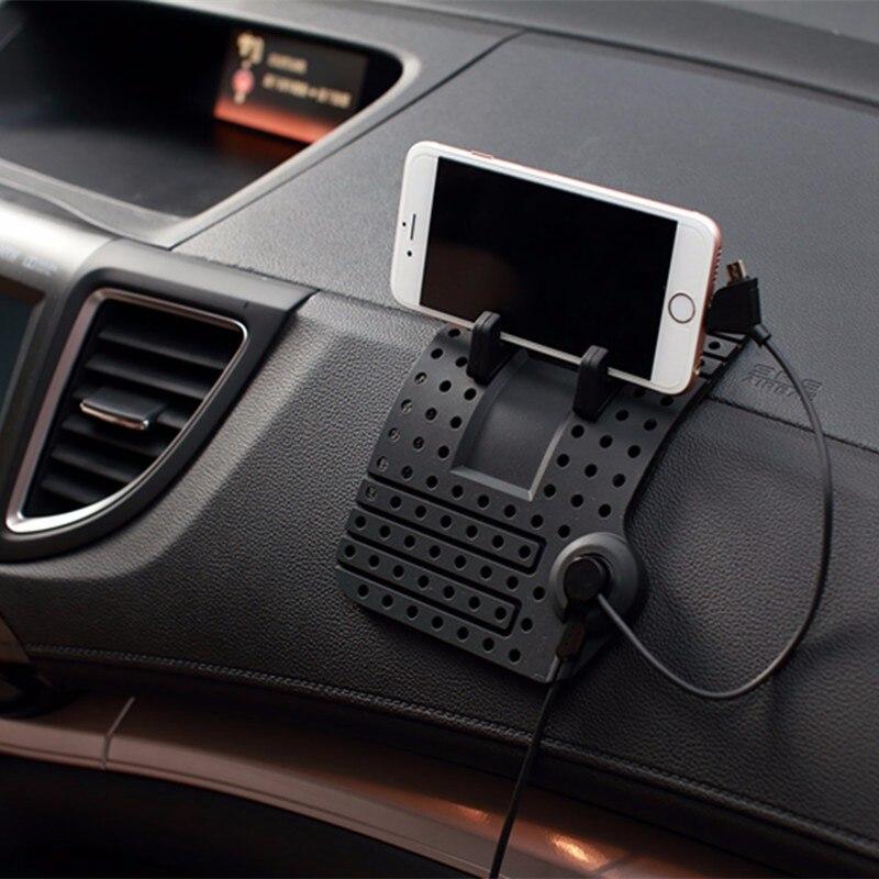 Non-Slip De Bureau Support De Voiture Avec Câble Montage Chargeur Pad Mobile Téléphone Magnétique Tableau de Bord Support Universel Pour iPhone Pour Samsung