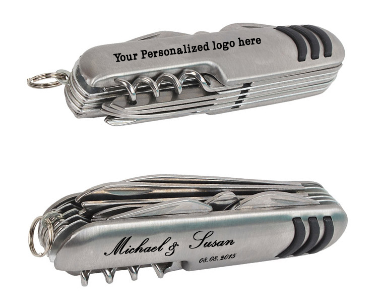 Multifunction Knife 11 swiss knife folding blade knife Stainless Steel 11 open for Travaling Personalzied logo