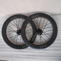 Сема 18 дюймов 355 Carbon колеса с ездить концентратор полный T700 углеродного волокна довод обода лучшее качество углерода Колесная для птичка ве