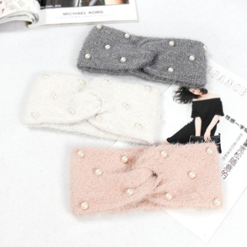 2019 Hair Band Women   Headwear   Knitting Wool Headband Handmade Keep Warm Hairband Hairdressing Hair Accessories