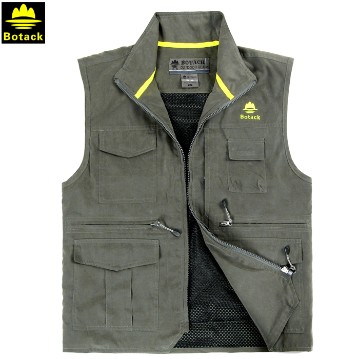 Outdoor male camping hiking breathable Fishing vest for men fishing photography back detachable breathable multi pocket vest summer outdoors tactical mesh multi pockets vest men breathable shooting director photographer hunting hiking vest big size 6xl