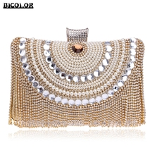 BICOLOR Luxury Woman Evening bag Women Diamond Rhinestone Clutch Crystal Day Clutch Wallet Wedding Purse Party Banquet 5 Color