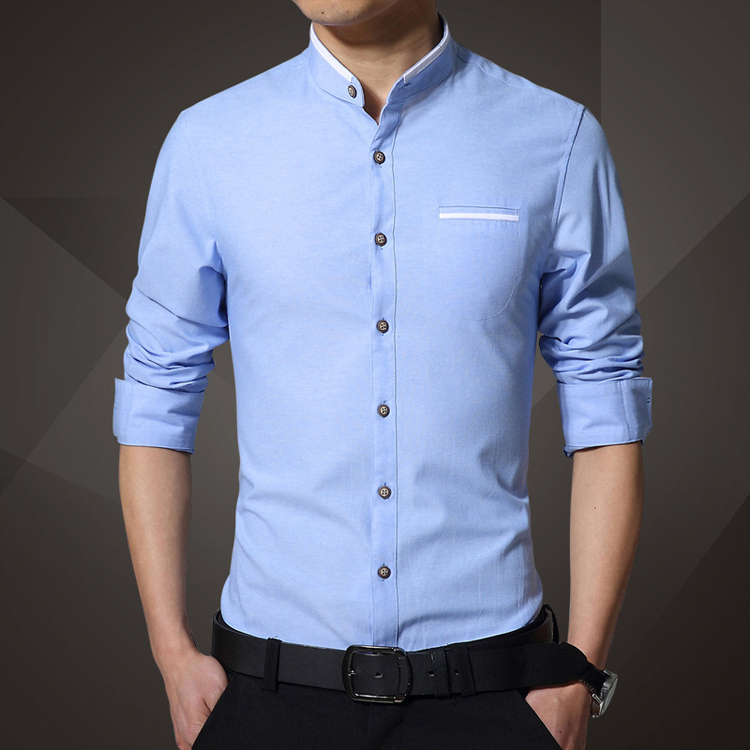 Mandarin collar dress shirt images for Where to buy a dress shirt