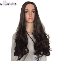 S Noilite 26 Wavy Half Wig Synthetic Heat Resistant Natural Clip In Hairpiece Ladies 3 4