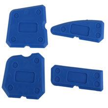 4 шт. синий набор инструментов для шпаклевки Шпаклевка герметик силиконовый скребок для затирки дома и набор инструментов для работы в саду ручные инструменты
