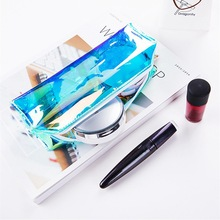 Creative Transparent Laser Makeup Beauty Bag PVC Beautician Cosmetic Bags Portable Storage Pouch Make Up Toiletry Functional