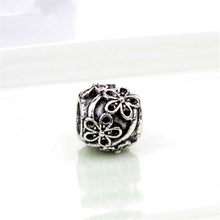 JJ87 NEW Flower DIY Jewelry Charms Bead Fit Pandoraa Bracelet & Necklaces Pendant Authentic Beads Jewelry Making Women Gifts(China)