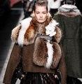 Hot Sale YR152 Fashion New Style Genuine Raccoon Fur Shawl Luxury Fur Scarf~Drop Shipping Wholesale Retail