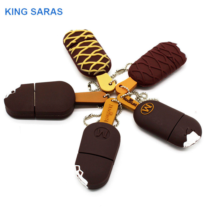 KING SARAS  5colour Cool Summer Day Mini Ice Cream Usb Flash Drive Usb 2.0 4GB 8GB 16GB 32GB 64GB Pendrive Gift Usb