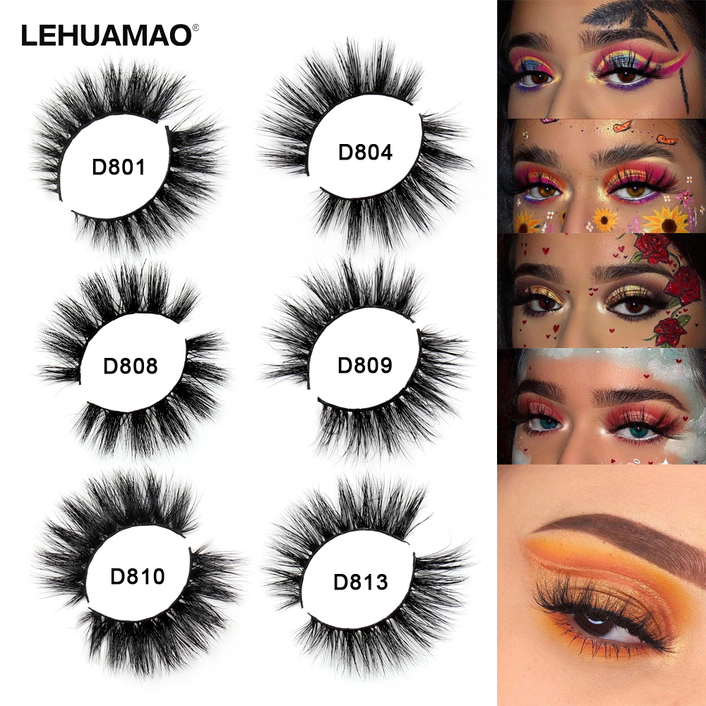 LEHUAMAO Mink Eyelashes 3D Mink Lashes Thick HandMade Lash Fluffy Light Lashes Cruelty Free Mink Lashes False Eyelashes Makeup