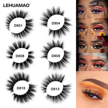 LEHUAMAO Mink Eyelashes 3D Mink Lashes Thick HandMade Lash Fluffy Light Lashes Cruelty Free Mink Lashes False Eyelashes Makeup все цены