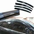 4 pcs Janelas de Ventilação Viseiras Chuva Guarda Sol Escudo Escuro Defletores Para Audi Q5