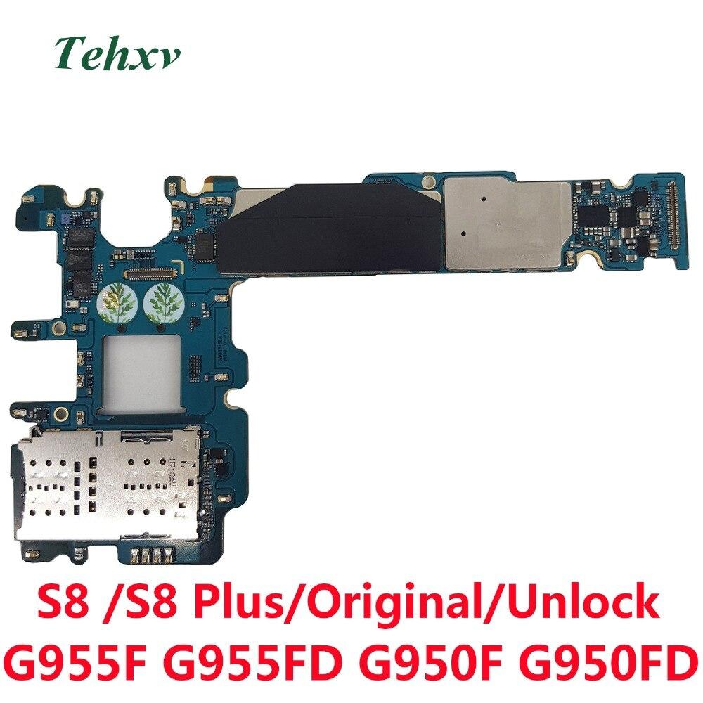 Tehxv Original Unlocked For Samsung Galaxy S8 Plus G955F G950F G950FD G955FD G950U G955U S8 Motherboard