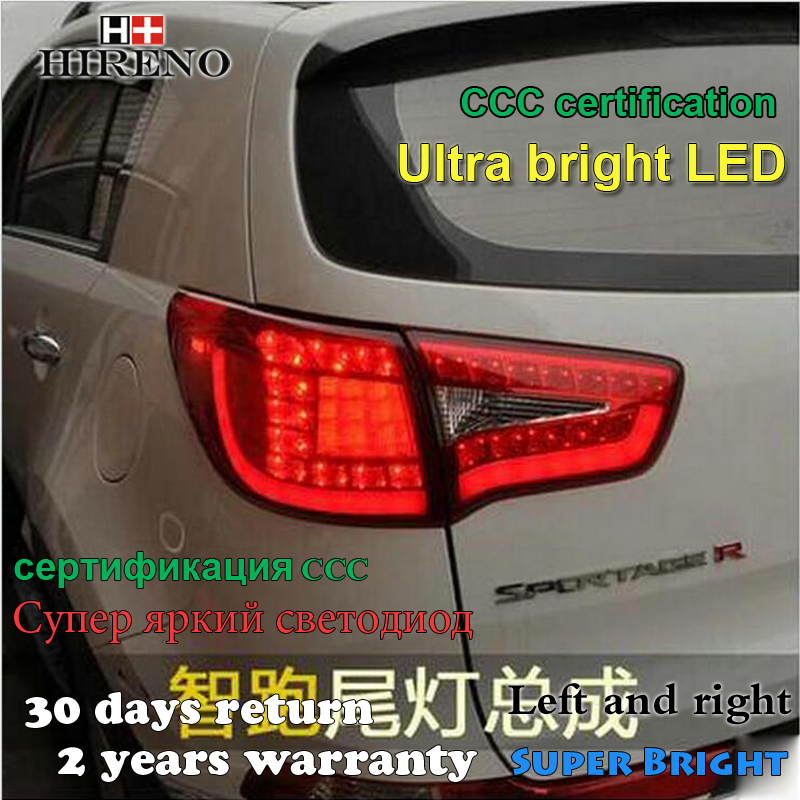Hireno tail lamp for kia sportage r 2011 2012 2013 2014 2015 taillight rear lamp parking brake turn s