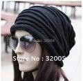 1 unids, versión Coreana de la tapa plegable popular, sombrero de Invierno, los hombres y las mujeres De Moda de tejer gorro de lana, 5 colores, Envío libre.