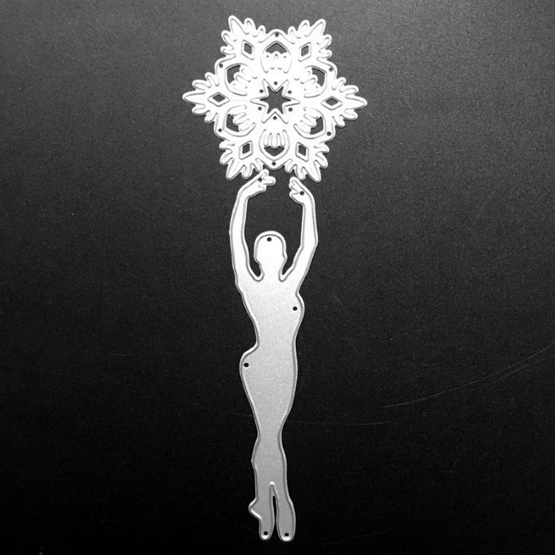 SCD847 Dancer Metal Cutting Dies For Scrapbooking Stencils DIY Album Cards Decoration Embossing Folder Die Cuts Tools Mold New in Cutting Dies from Home Garden